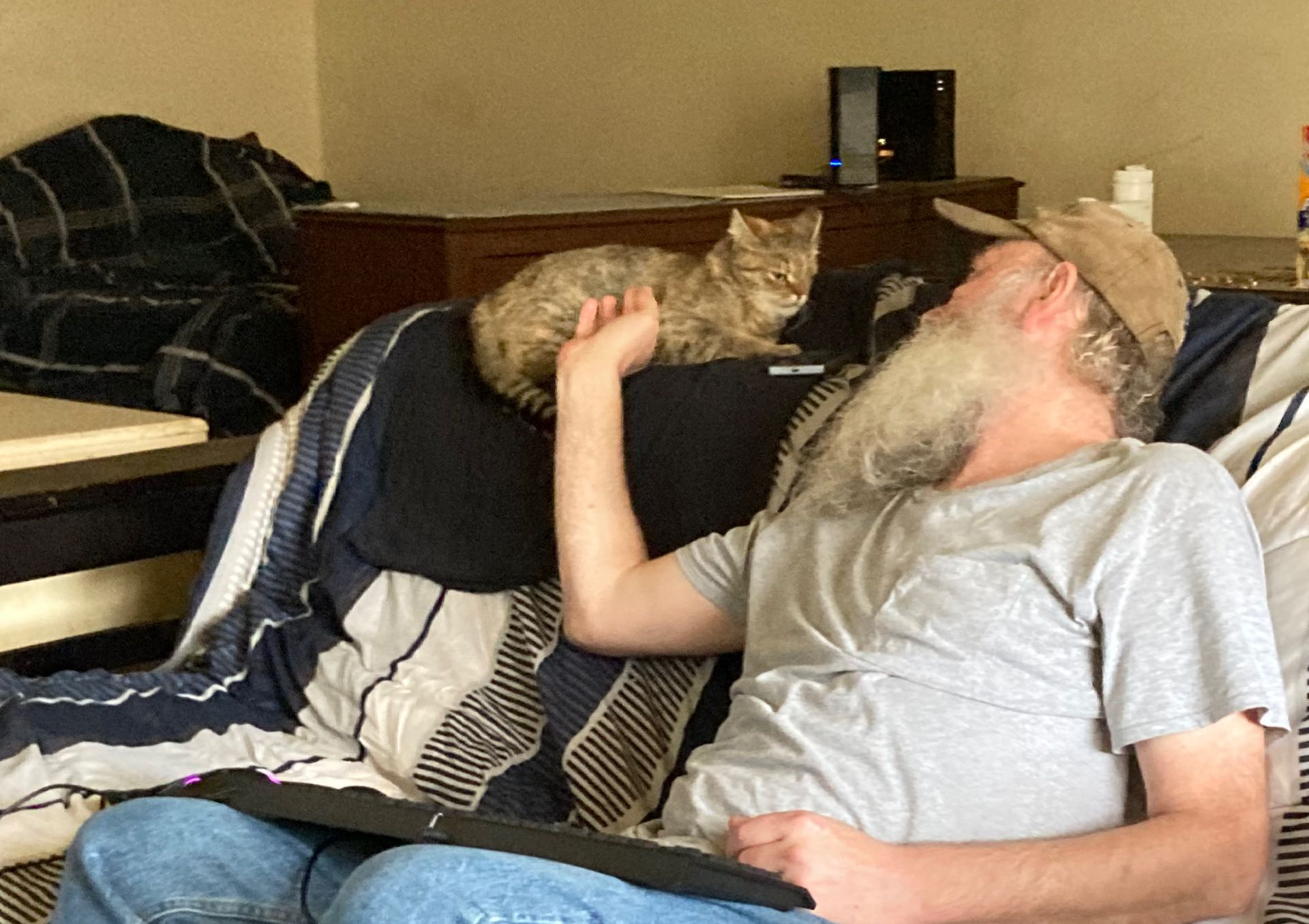 photo of robert and miss kitty